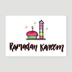 Ramadan Kareem - White