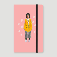 Woman in Yellow Notebook