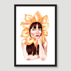 Lady Flower Head