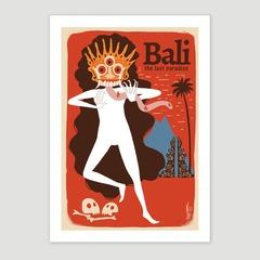 Bali vintage postcard 1